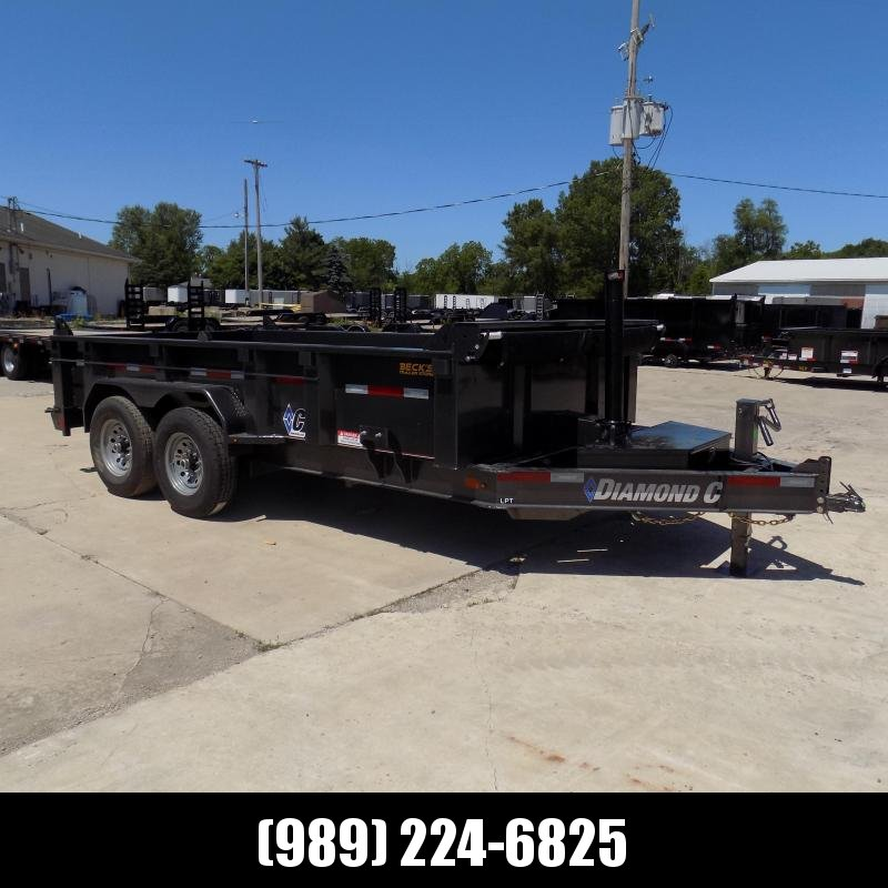 """New Diamond C Trailers 82"""" x 14' Low Profile Dump W/ Telescopic Lift - $0 Down & Payments from $139/mo. W.A.C."""