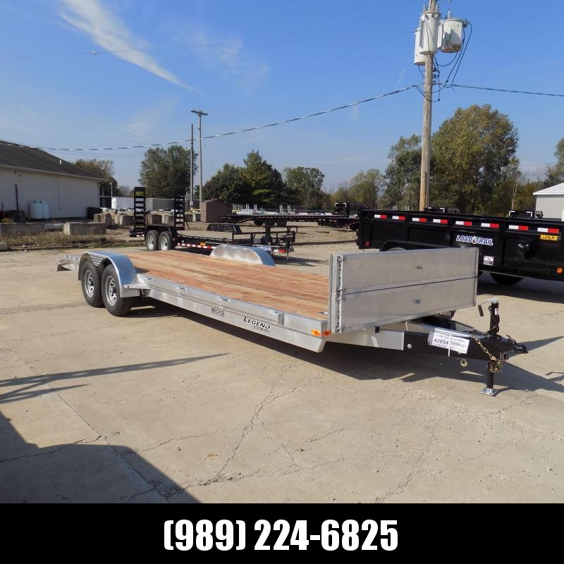 New Legend 7' x 24' Aluminum Car Hauler - $0 Down & Payments From $129/mo. W.A.C.