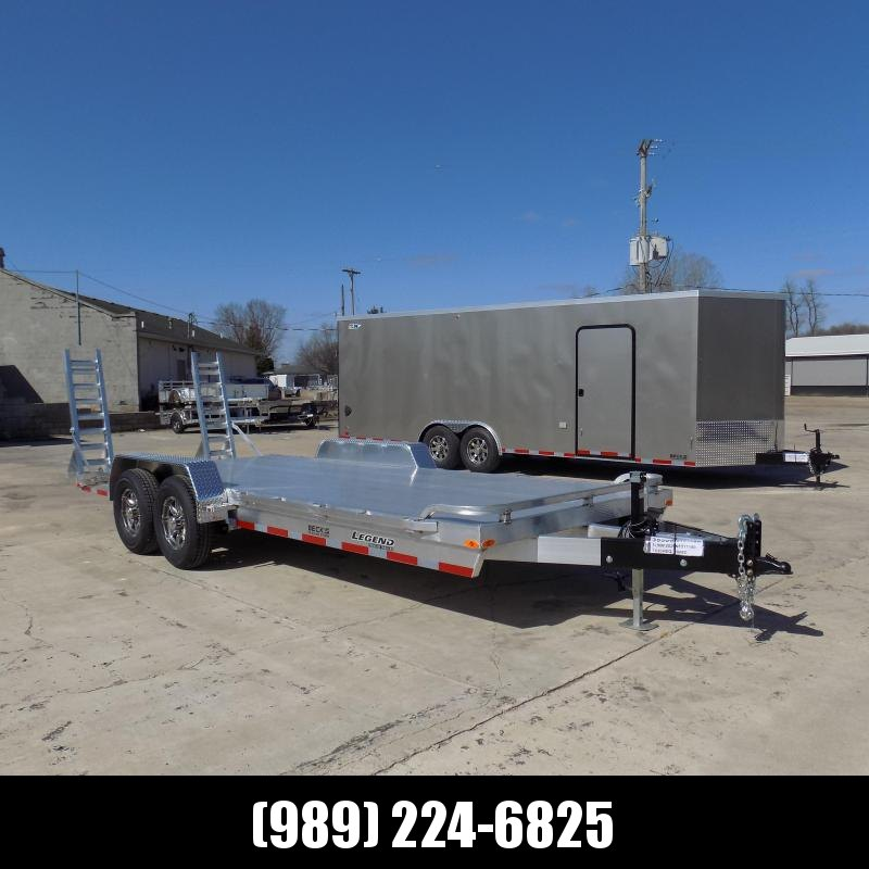 New Legend 7' x 20' Aluminum Equipment Trailer For Sale - 12K Payload - $0 Down & Payments from $125/mo. W.A.C