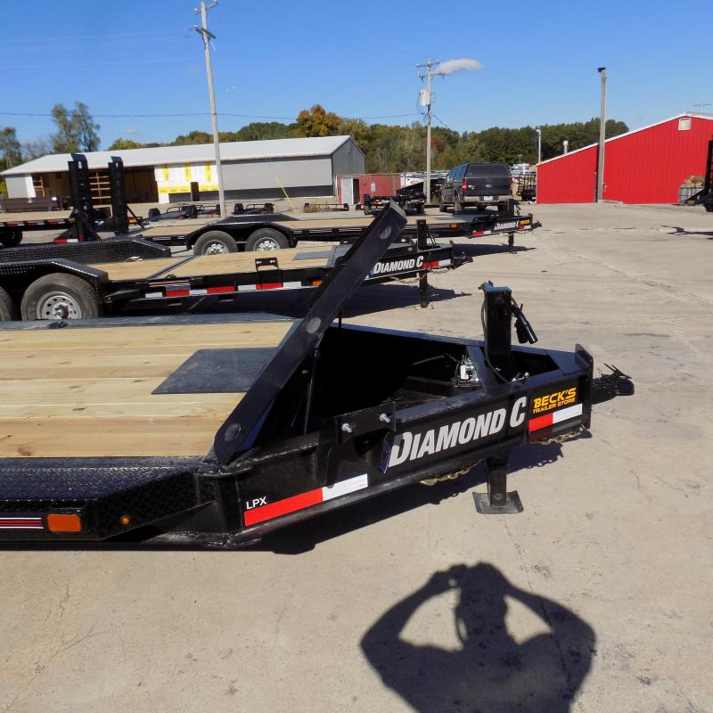 """New Diamond C Trailers 102"""" x 24' Heavy Duty Equipment Trailer With Drive-Over Fenders - 10K Axles - $0 Down & Payments from $135/mo. W.A.C."""