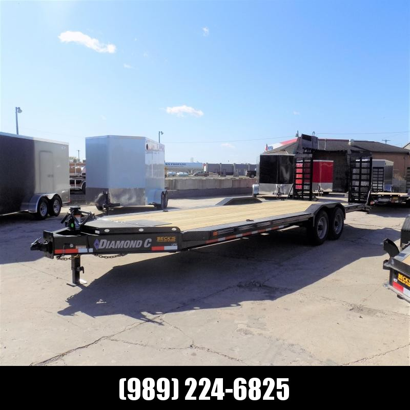 "New Diamond C Trailers 102"" x 24' Heavy Duty Equipment Trailer With Drive-Over Fenders - 10K Axles - $0 Down & Payments from $135/mo. W.A.C."