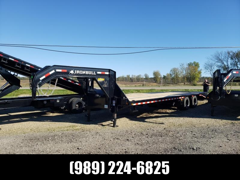 """New Iron Bull Trailer 102"""" x 30' Gooseneck Trailer With Max Ramps - $0 Down & Finance Options Available"""
