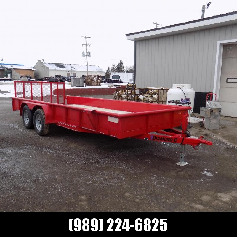 New Diamond C Trailers 7' x 18' Tandem Axle Utility Trailer With Bi-Fold Gate - $0 Down & $103/mo. W.A.C.