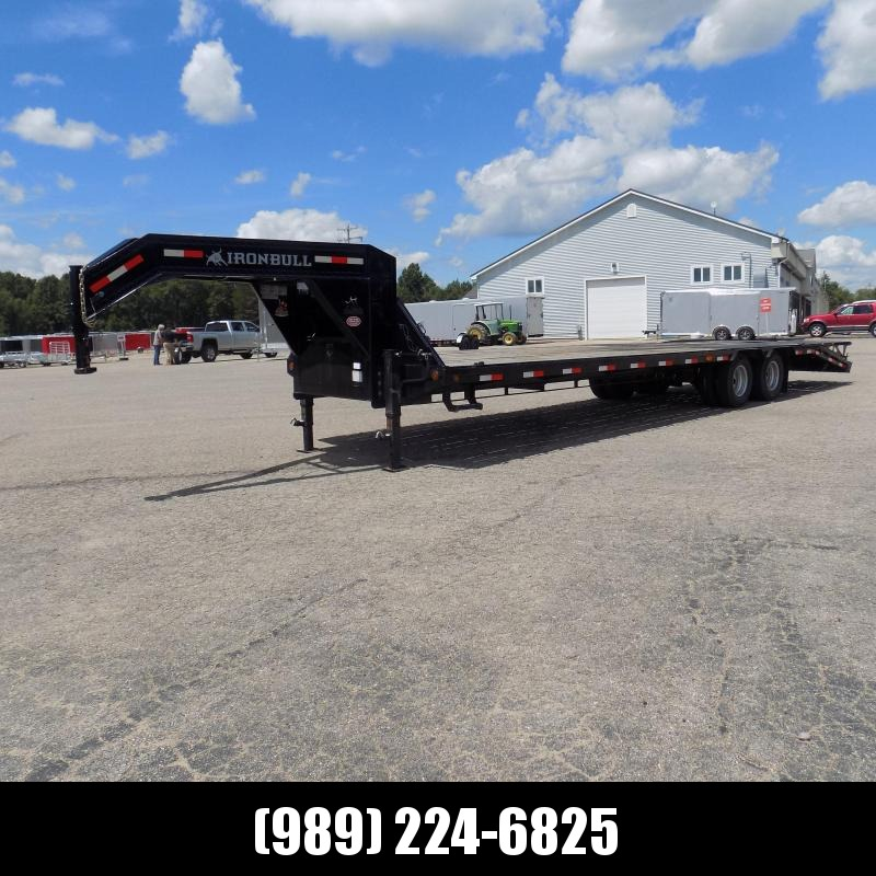 "Used Iron Bull 102"" x 32' Gooseneck Trailer for Sale - Great Shape!"