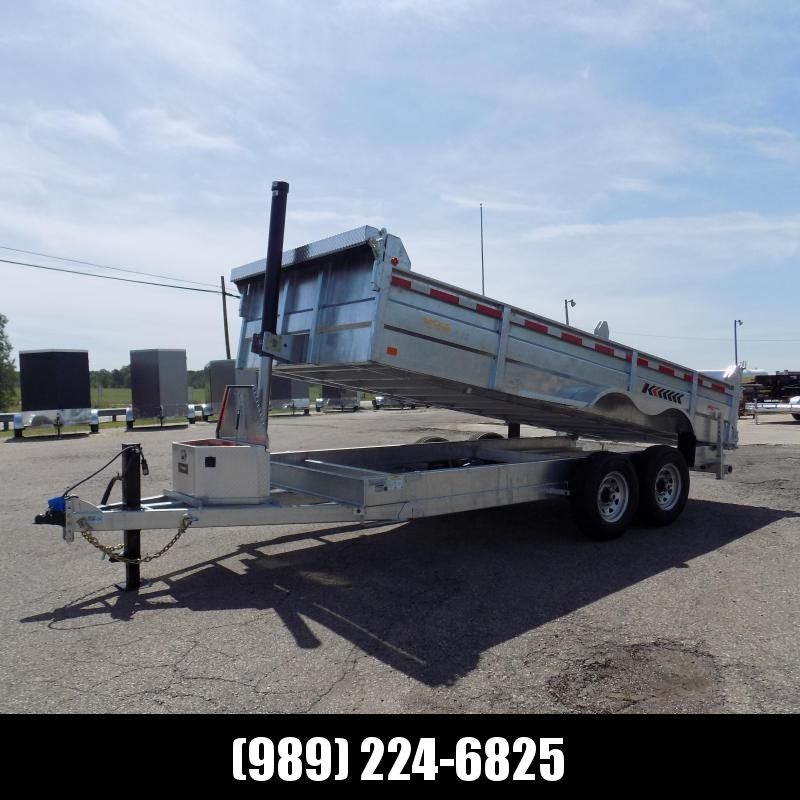 New Galvanized 7 x 16' Dump Trailer with Telescopic Lift - Corrosion Resistant - $0 Down With Flexible Financing Available