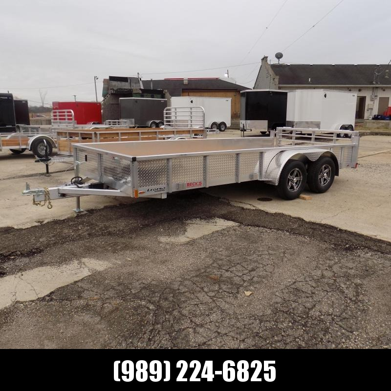 New Legend Open Deluxe 7' x 16' Aluminum Utility Trailer - $0 Down & Payments From $108/mo. W.A.C.