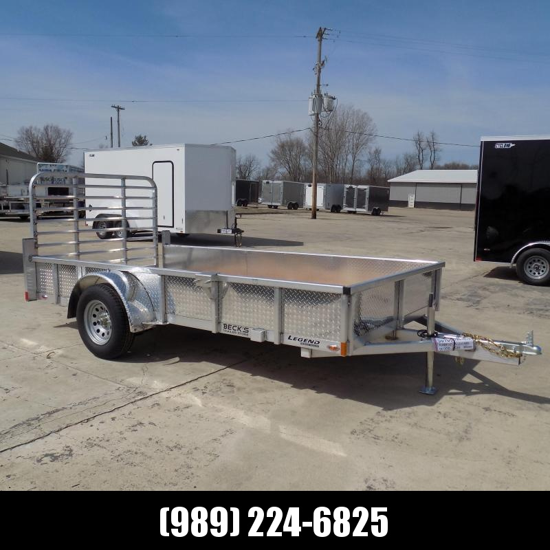 New Legend Open Deluxe 6' x 12' Aluminum Utility - $0 Down & Payments From $74/mo. W.A.C.