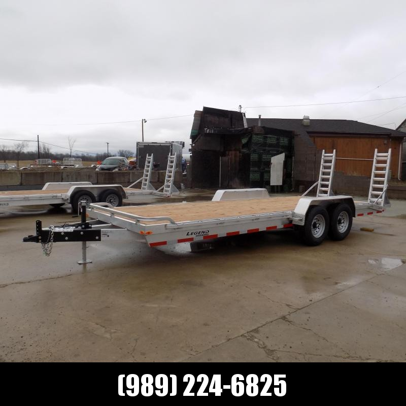 New Legend 7' x 22' Aluminum Equipment Trailer With 7K Torsion Axles - $0 Down & Payments from $116/mo. W.A.C