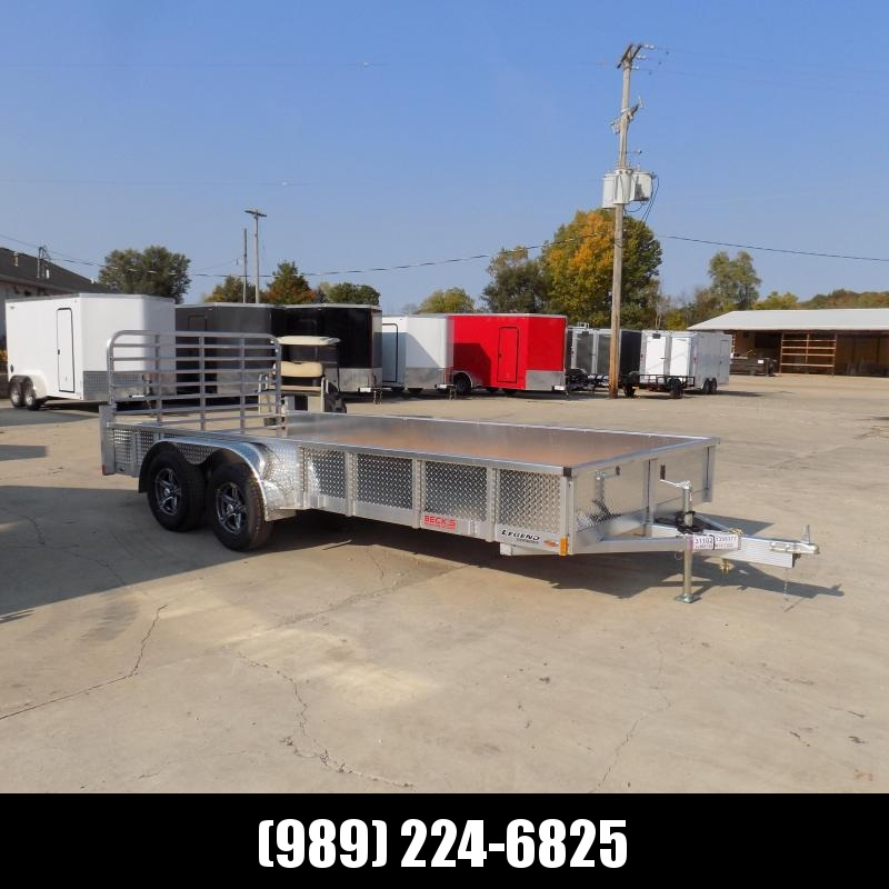New Legend Open Deluxe 7' x 16' Aluminum Utility Trailer - $0 Down & Payments From $103/mo. W.A.C.