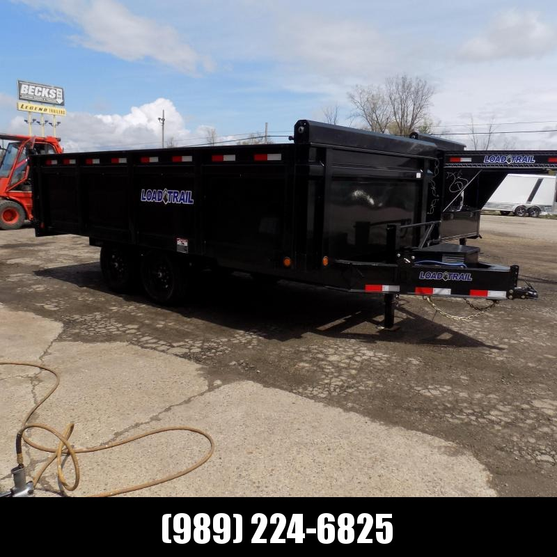 "New Load  Dump Trailer 96"" x 16' Deckover Dump Trailer With Fold-Down Sides - $0 Down & Payments From $133/mo W.A.C."