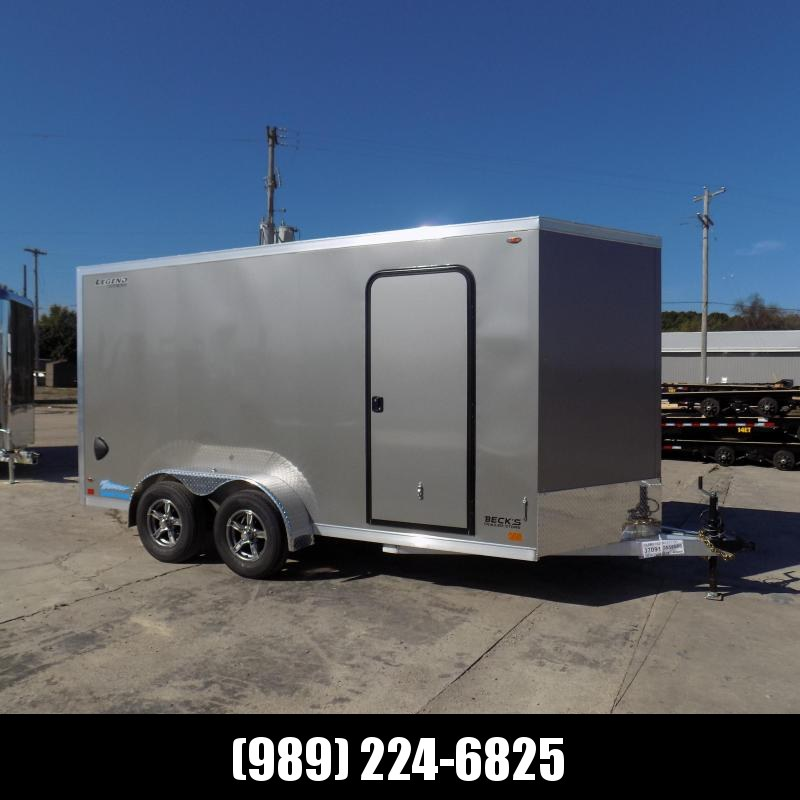 New Legend Thunder 7' x 16' Aluminum Enclosed Cargo Trailer for Sale- $0 Down Payments From $125/Mo W.A.C.