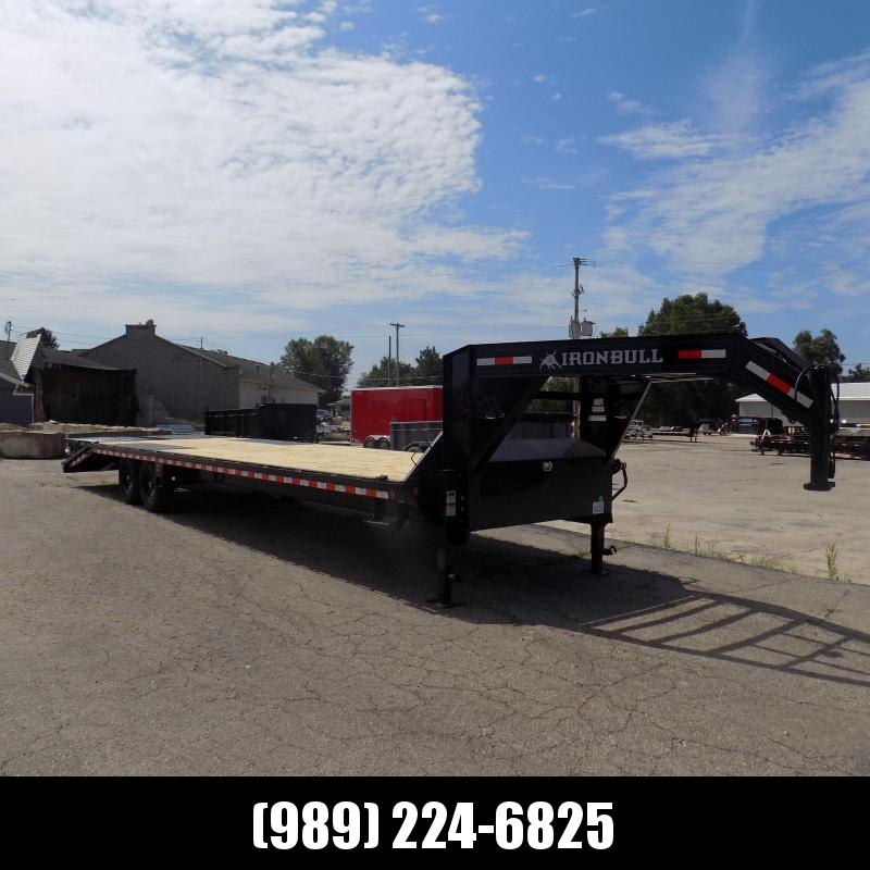 """New Iron Bull Trailer 102"""" x 32'' Gooseneck Trailer With Max Ramps - $0 Down & Financing Options Available"""