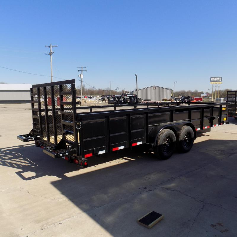 New Big Tex 10TV 7' x 20' Utility/Landscape Trailer With 5200# Axles - $0 Down & Payments From $115/mo. W.A.C.