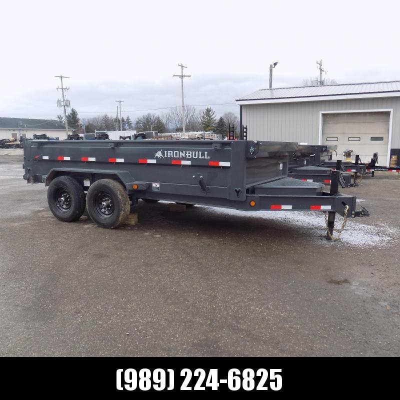 New Iron Bull 7' x 14' Dump Trailer - 7 Gage Floor - Flexible $0 Down Financing Available