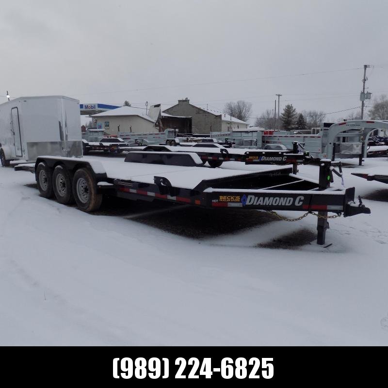 """New Diamond C HDT 82"""" x 22' Tilt Deck Equipment Trailer - 24K Weight Rating - $0 Down & Payments From $143/mo. W.A.C."""