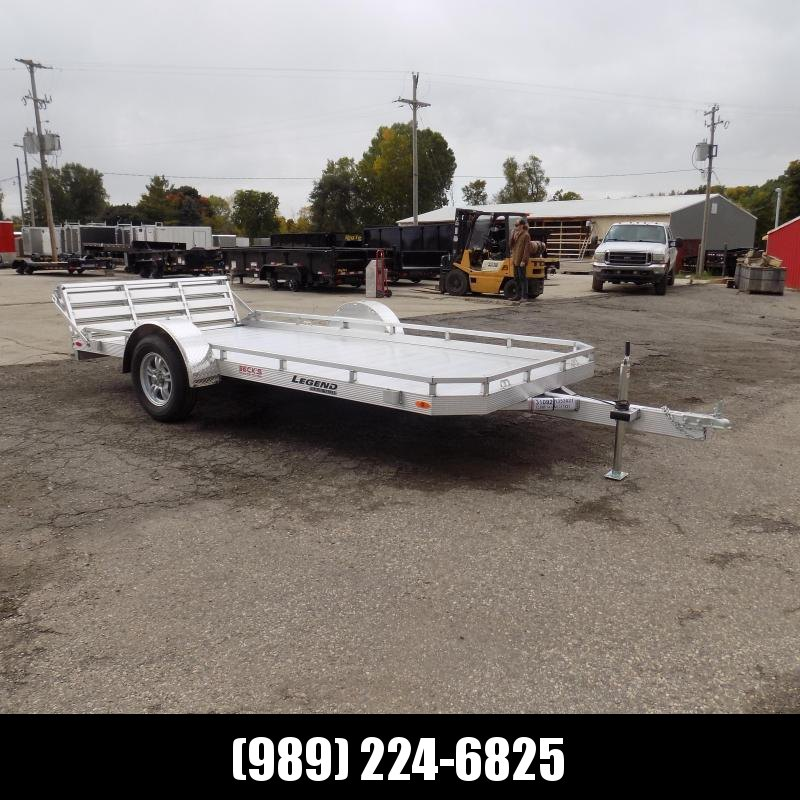 New Legend All Aluminum 7' x 14' Utility Trailer With Aluminum Deck & 3-Way Gate - $0 Down & $83/mo. W.A.C.