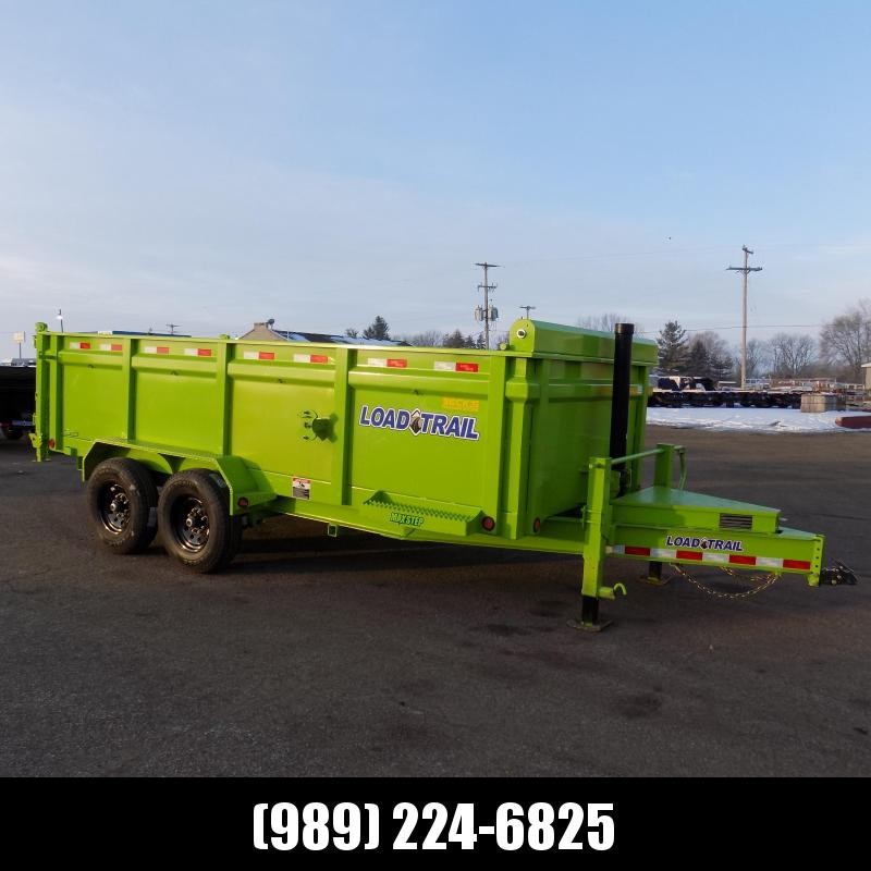 """New Load Trail 83"""" x 16' Dump Trailer With 3' Sides, 7 Gage Floor & Telescopic Lift - $0 Down Financing Available"""