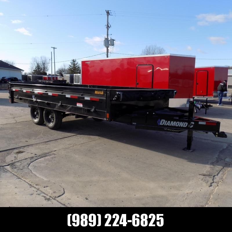 """New Diamond C 96"""" x 16' Deckover Dump Trailer With Fold Down Sides - $0 Down Financing Available"""