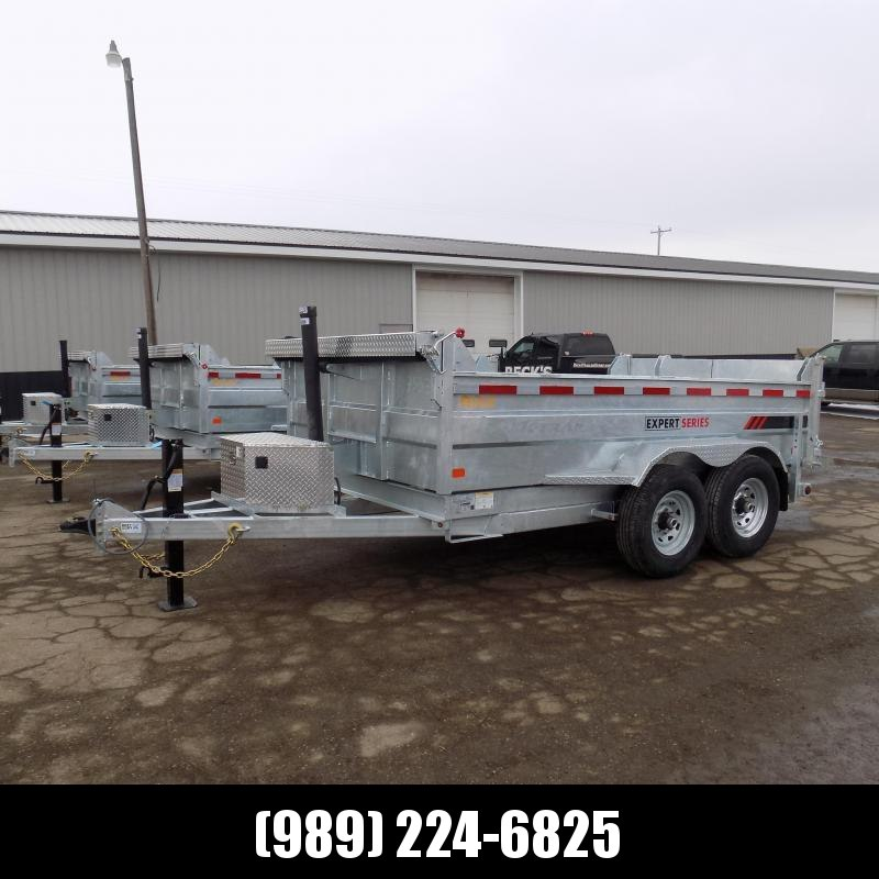 New Galvanized 7 x 12' Dump Trailer with Telescopic Lift - Corrosion Resistant - $0 Down & Payments From $135/mo. W.A.C.