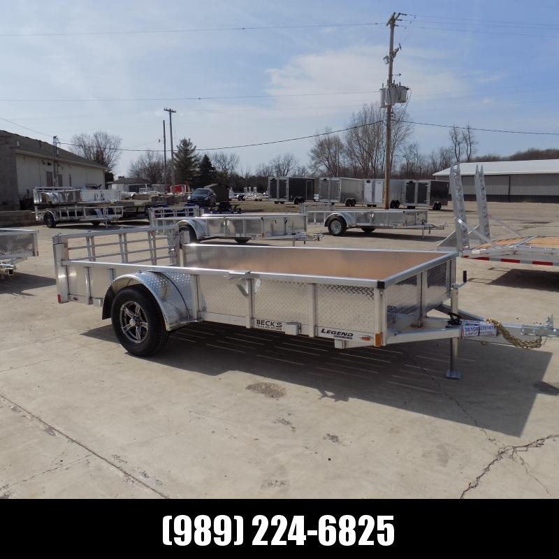 New Legend Open Deluxe 6' x 12' Aluminum Utility - $0 Down & Payments From $77/mo. W.A.C.