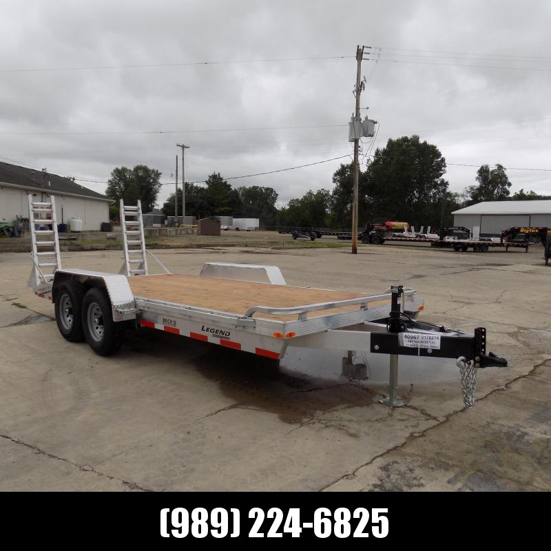 New Legend 7' x 18' Aluminum Equipment Trailer For Sale - 12K Payload - $0 Down & Payments from $133/mo. W.A.C