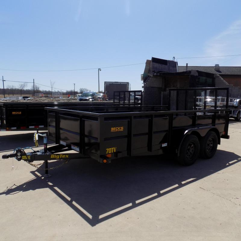 New Big Tex 10TV 7' x 14' Utility/Landscape Trailer With Solid Sides - $0 Down Financing Available