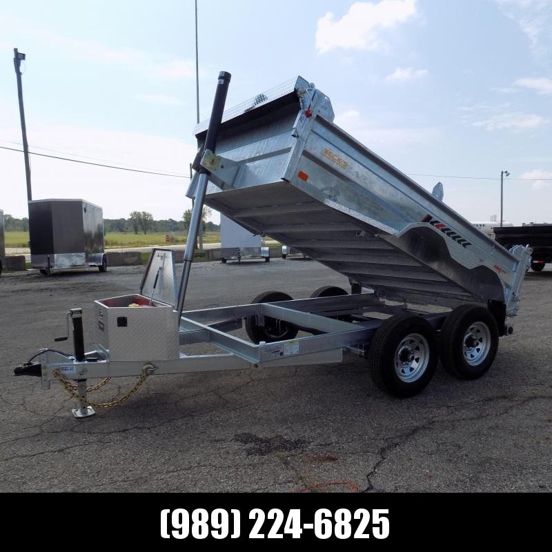 New Galvanized 6' x 10' Dump Trailer with Telescopic Lift - Corrosion Resistant - $0 Down & Payments From $125/mo. W.A.C.