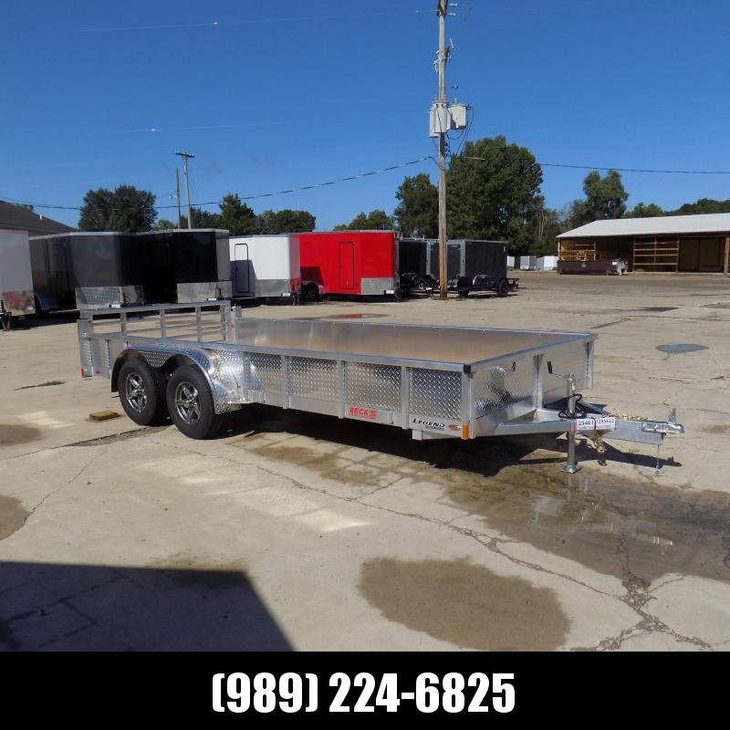 New Legend Open Deluxe 7' x 16' Aluminum Utility Trailer - $0 Down & Payments From $105/mo. W.A.C.