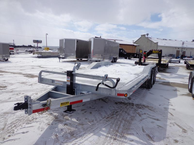 "New Galvanized 102"" x 20' Equipment Trailer - Galvanized Steel Deck"