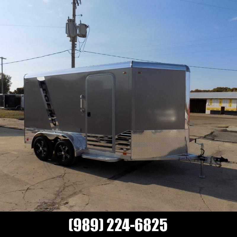 New Legend Deluxe V Nose 7' X 15' All Aluminum Cargo Trailer For Sale - $0 Down & Payments from $109/mo. W.A.C.