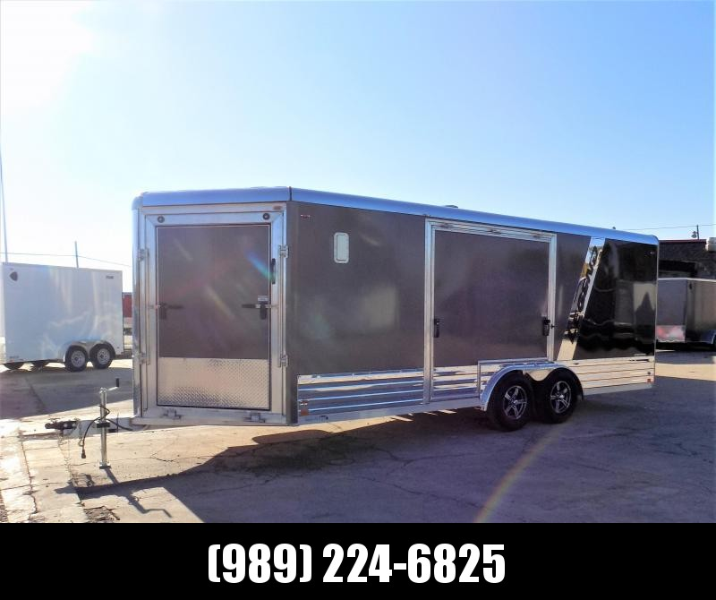New Legend Deluxe Snow 8' x 24' Enclosed Snowmobile/All Sport Trailer - Perfect For All Your Toys - $0 Down Financing Available