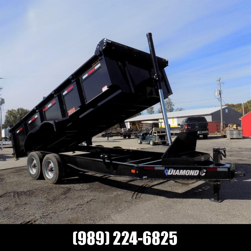 "New Diamond C Trailers 82"" x 16' Low Profile Dump W/ Telescopic Lift & 10K Torsion Axles - $0 Down Financing Available"