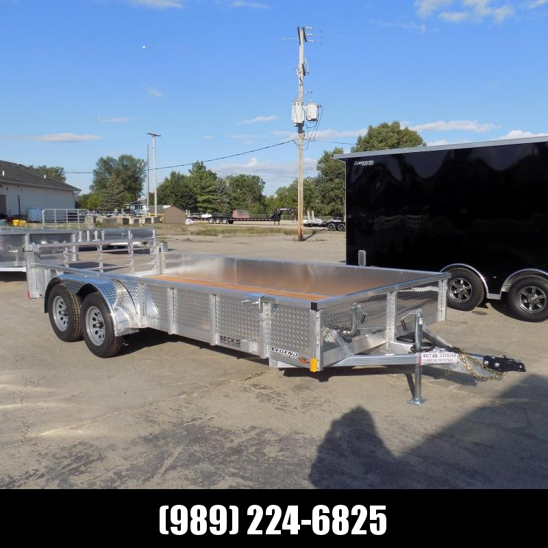 New Legend 7' x 16' Open Aluminum Equipment Trailer For Sale - $0 Down & Payments from $123/mo. W.A.C