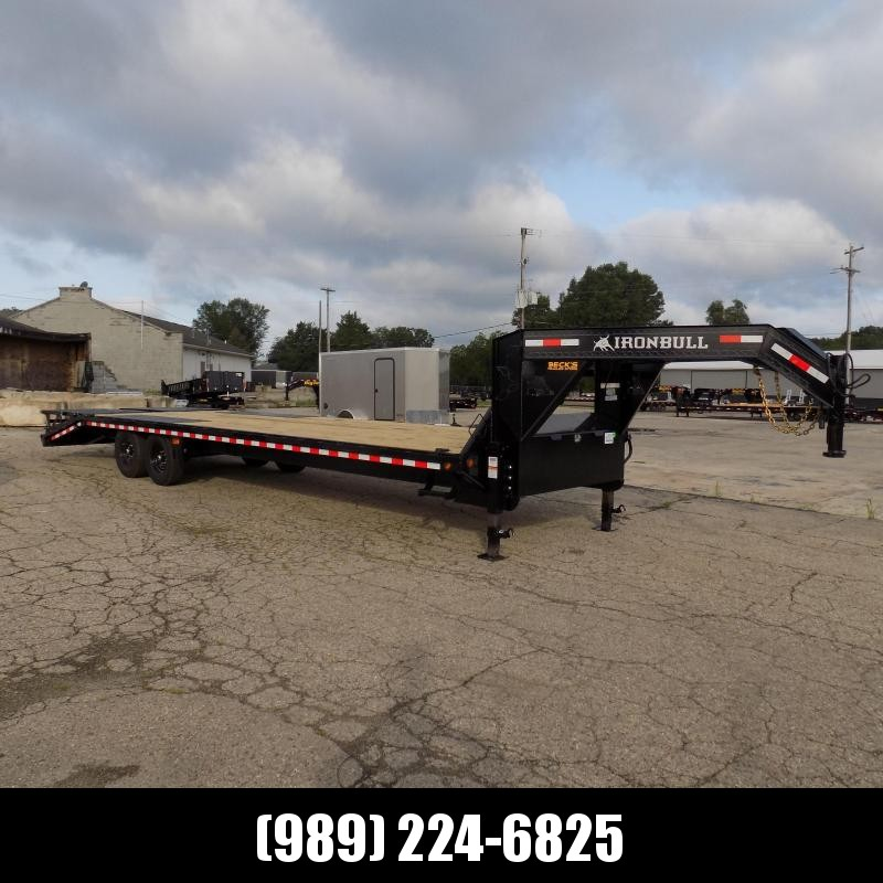 """New Iron Bull Trailer 102"""" x 30'' Gooseneck Trailer With Max Ramps - $0 Down & Financing Options Available"""