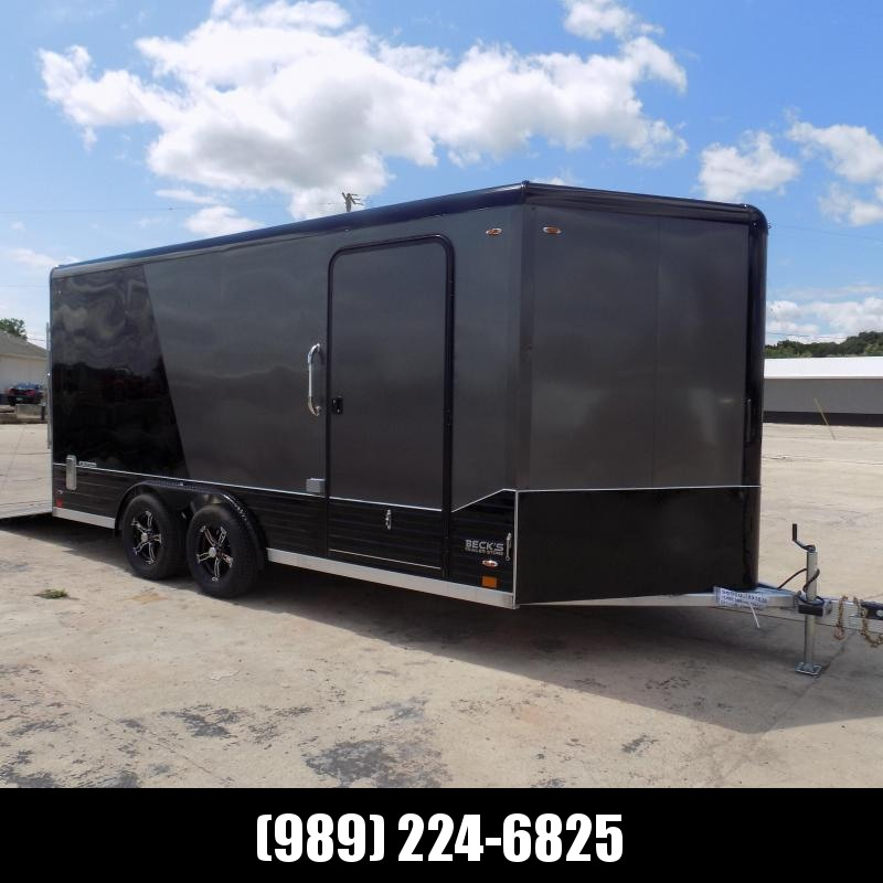 New Legend Deluxe V Nose 8' X 19' All Aluminum Cargo Trailer - LOADED! Flexible $0 Down Financing Available