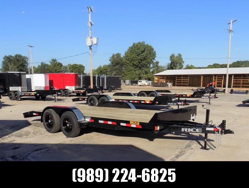 """New Rice Trailers 82"""" x 18' Open Car Hauler With 5200# Axles - $0 Down & Payments From $105/mo. W.A.C."""