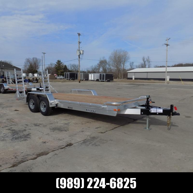 New Legend 7' x 20' Aluminum Equipment Trailer For Sale - $0 Down & Payments from $132/mo. W.A.C