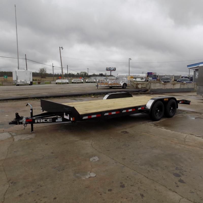 """New Rice Trailers 82"""" x 20' Open Car Hauler With 5200# Axles - $0 Down & Payments From $119/mo. W.A.C."""