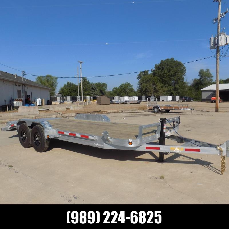 New Galvanized 7' x 20' Equipment Trailer - Corrosion Resistant  - $0 Down & Payments From $141/mo. W.A.C.