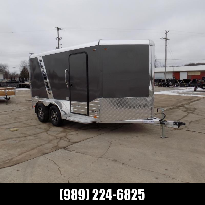 New Legend Deluxe V Nose 7' X 15' All Aluminum Cargo Trailer For Sale - $0 Down & Payments from $123/mo. W.A.C.