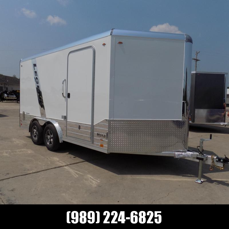New Legend Deluxe V Nose 8' X 17' All Aluminum Cargo Trailer - $0 Down & Financing Options Available