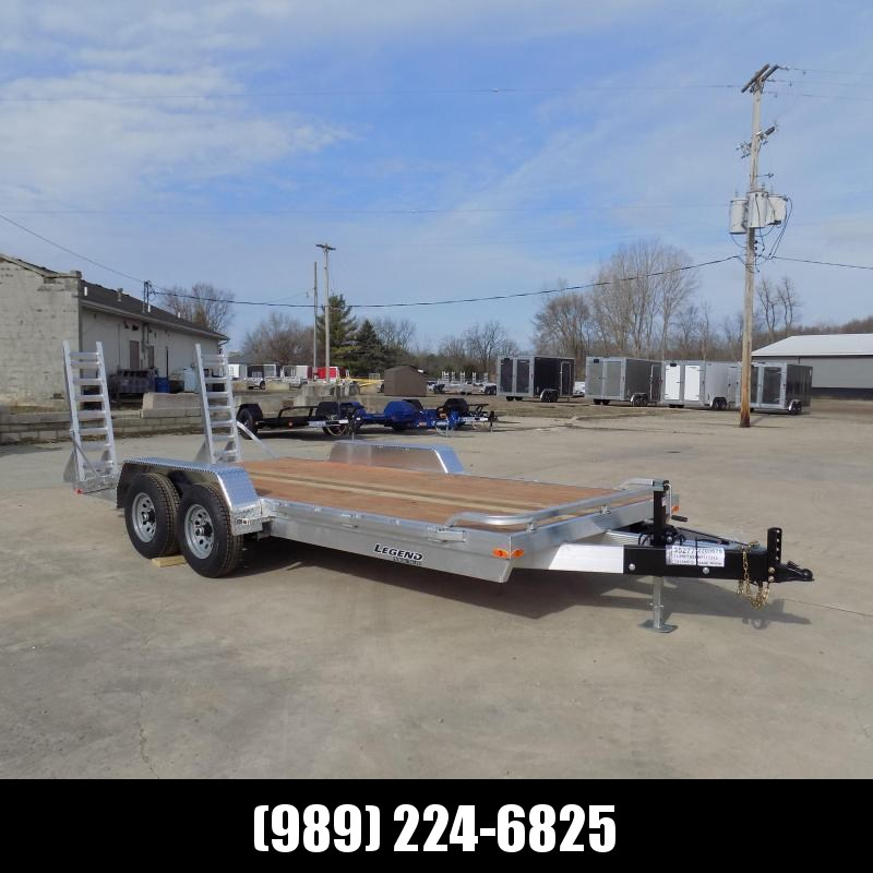 New Legend 7' x 18' Aluminum Equipment Trailer For Sale - $0 Down & Payments from $125/mo. W.A.C