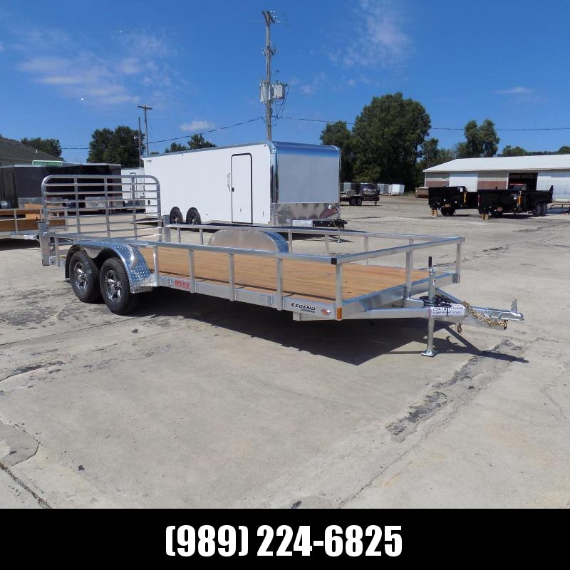 New Legend Open Deluxe 7' x 18' Aluminum Utility Trailer - $0 Down & Payments From $99/mo. W.A.C.