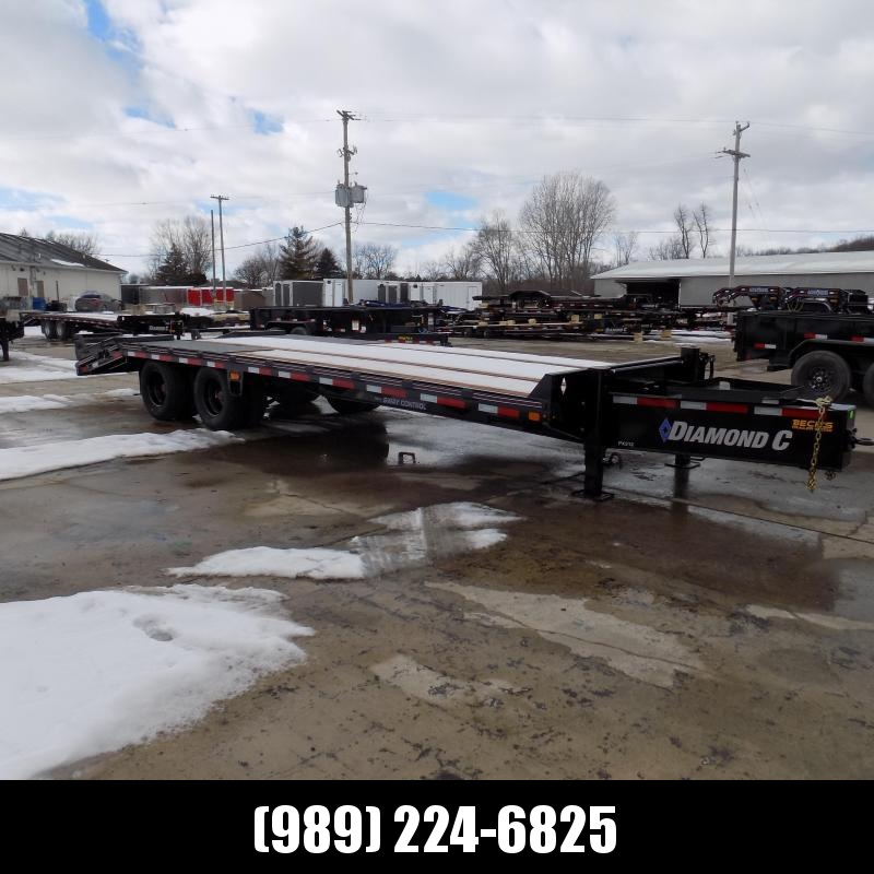 """New Diamond C Trailers PX212 102"""" x 25' Equipment Trailer w/ Pintle Hitch and 25.9K Weight Rating - Flexible $0 Down Financing Options Available"""