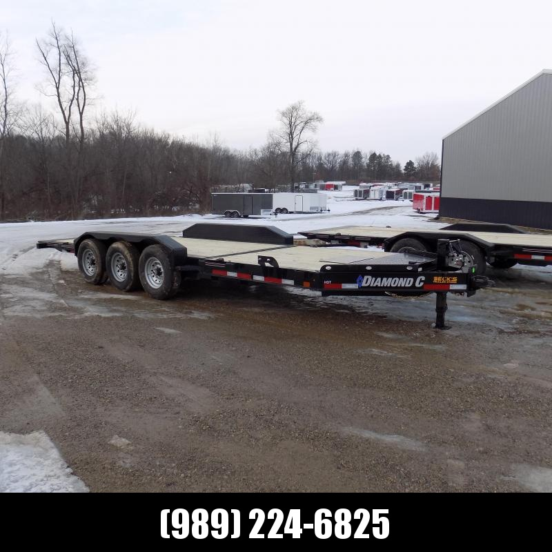 """New Diamond C HDT 82"""" x 22' Tilt Deck Equipment Trailer - Torsion Axle & 24K Weight Rating - $0 Down & Payments From $157/mo. W.A.C."""