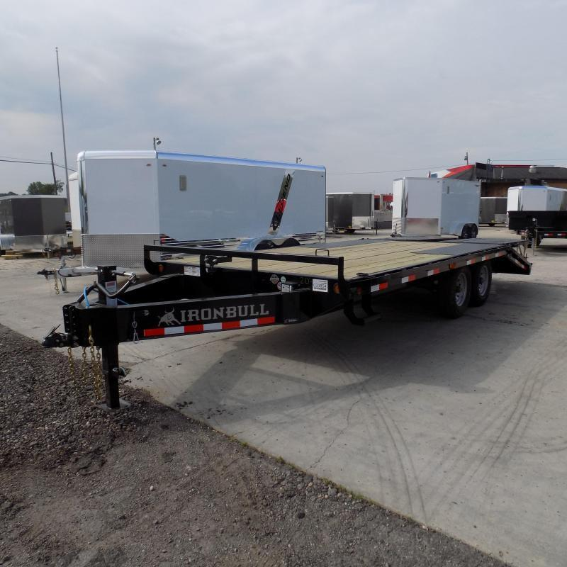 """New Iron Bull 102"""" x 20' Deckover Trailer for Sale"""