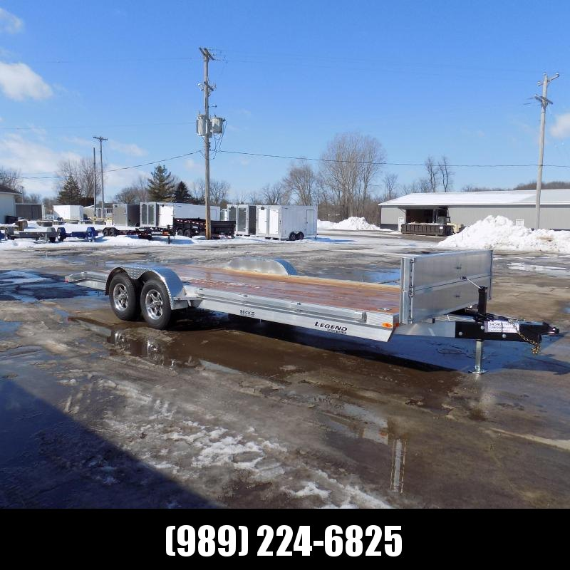 New Legend 7' x 22' Aluminum Open Car Hauler - 5200# Torsion Axles - $0 Down & Payments From $127/mo. W.A.C.