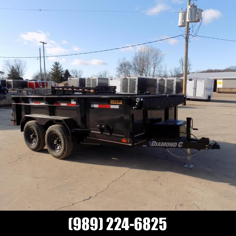 New Diamond C Trailers 6.5' x 12' Dump Trailer For Sale - $0 Down & Payments from $117/mo. W.A.C.