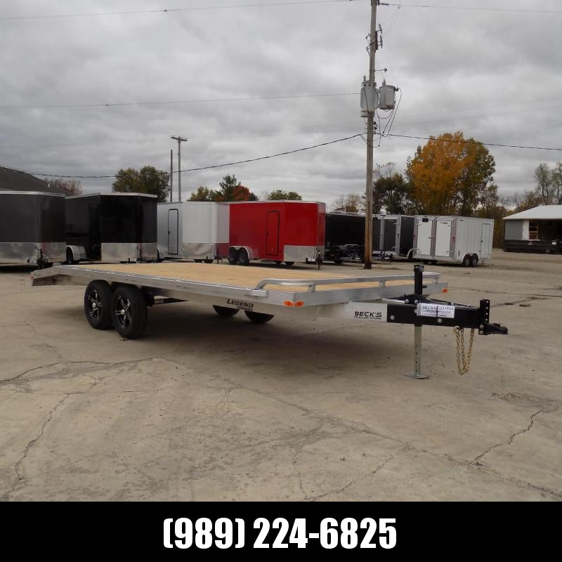 """New Legend 102"""" x 20' All Aluminum Deckover Equipment Trailer - $0 Down & Payments From $109/mo. W.A.C."""