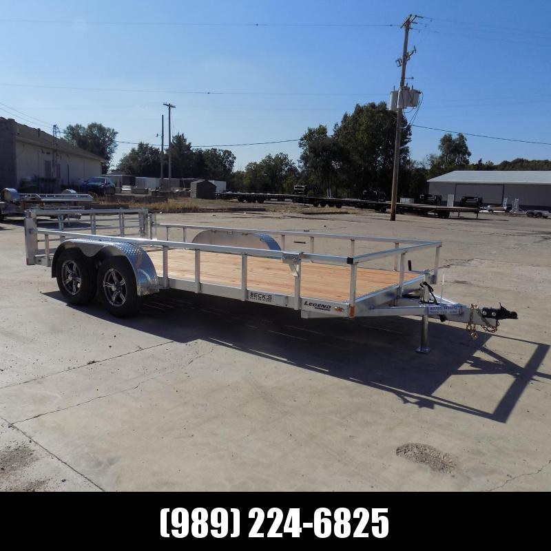 New Legend 7' x 16' Open Aluminum Equipment Trailer For Sale - $0 Down & Payments from $109/mo. W.A.C
